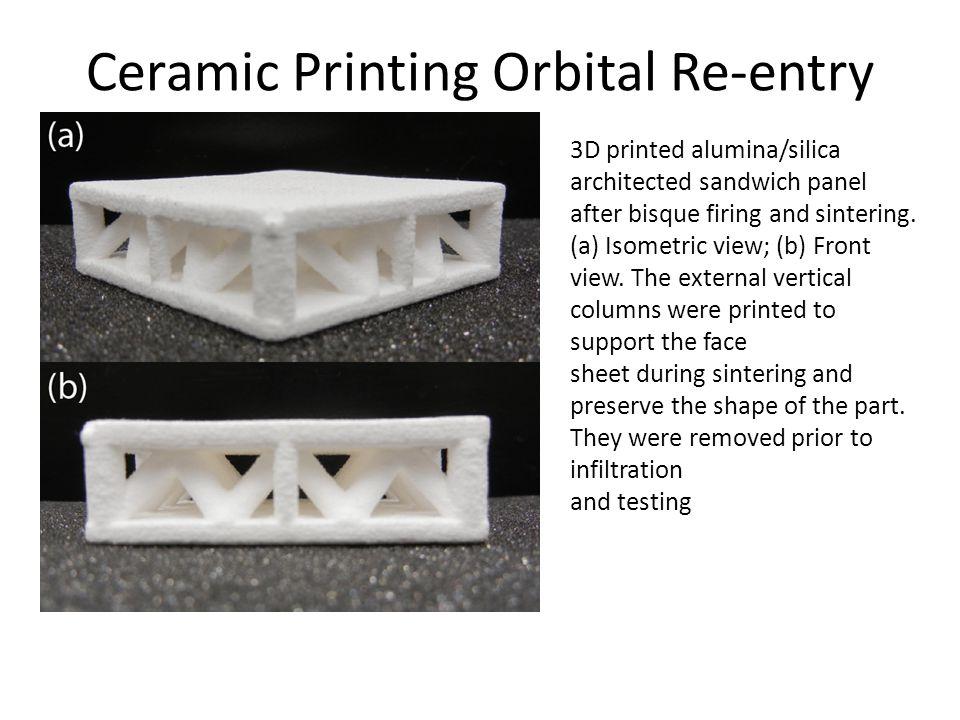 Ceramic Printing Orbital Re-entry