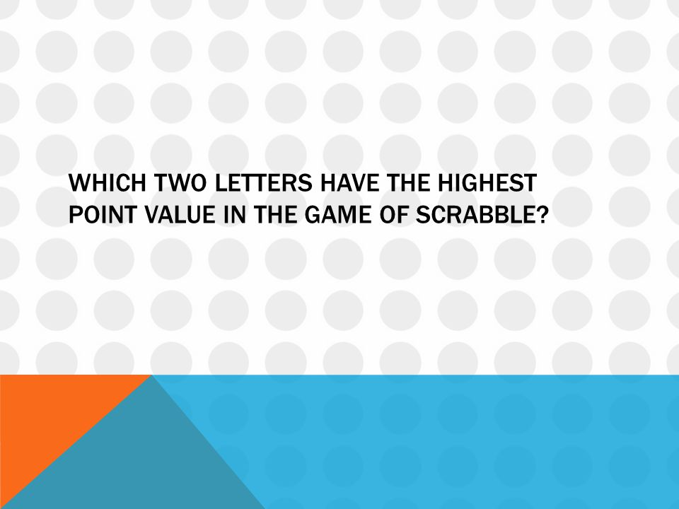 Which two letters have the highest point value in the game of Scrabble