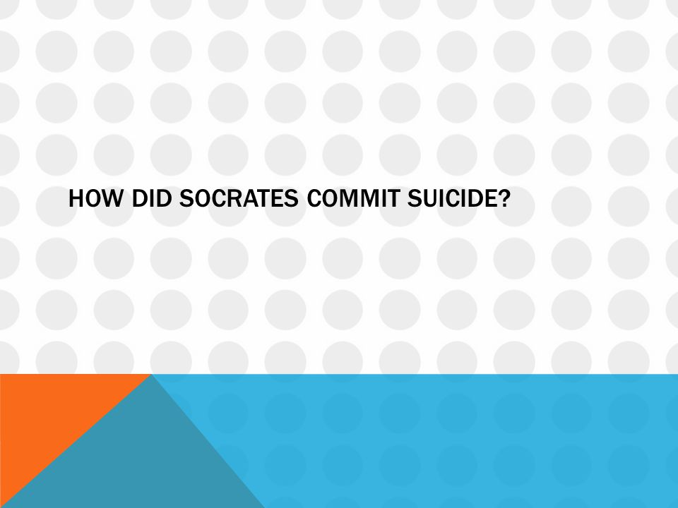 How did Socrates commit suicide