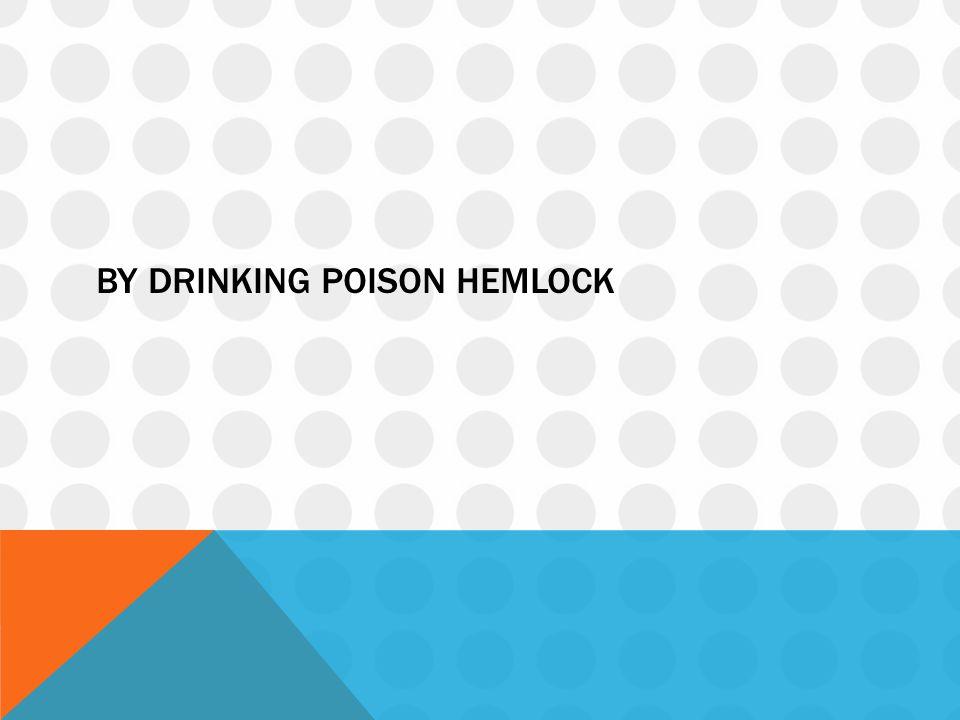 By drinking poison hemlock