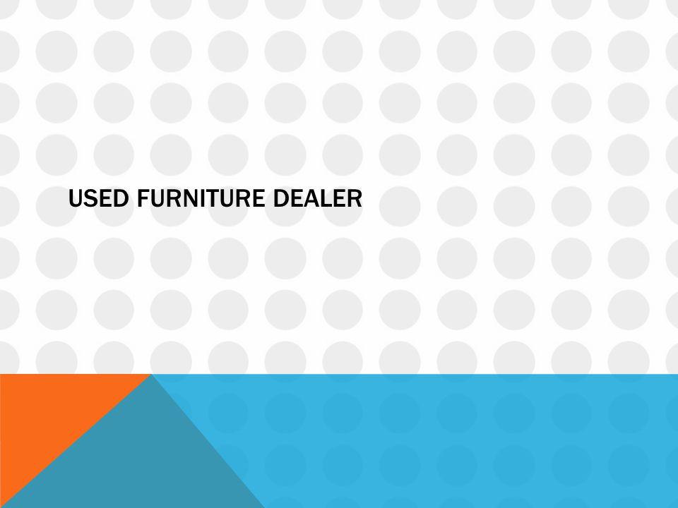 Used furniture dealer