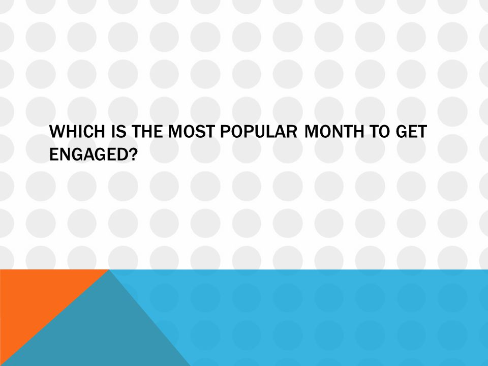 Which is the most popular month to get engaged