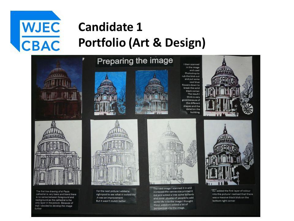Candidate 1 Portfolio (Art & Design)