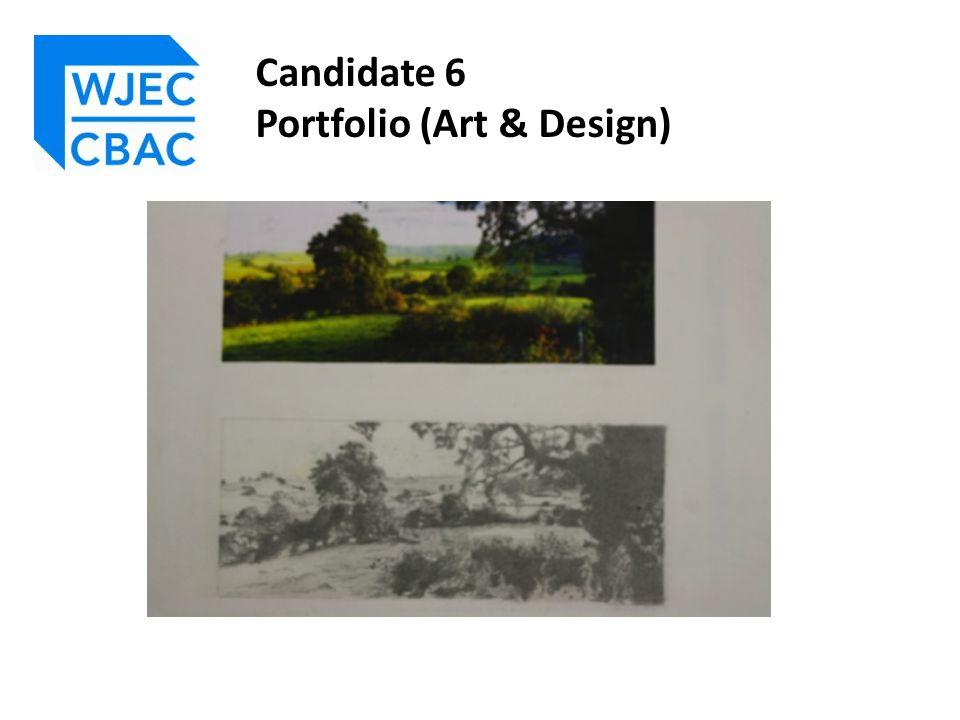 Candidate 6 Portfolio (Art & Design)