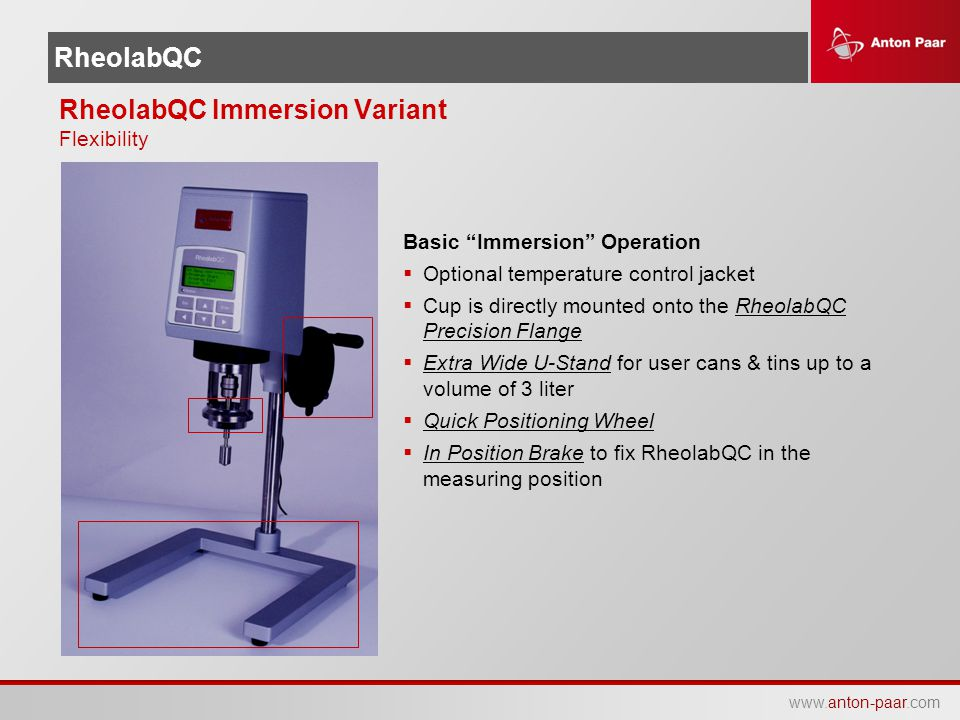 RheolabQC Immersion Variant