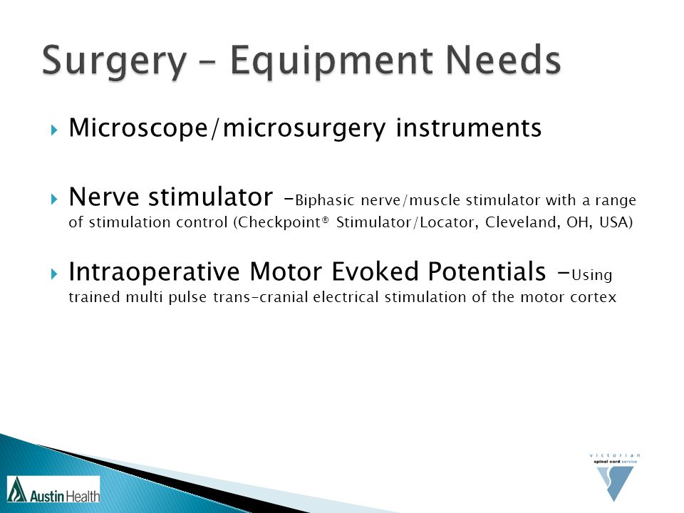 Surgery – Equipment Needs