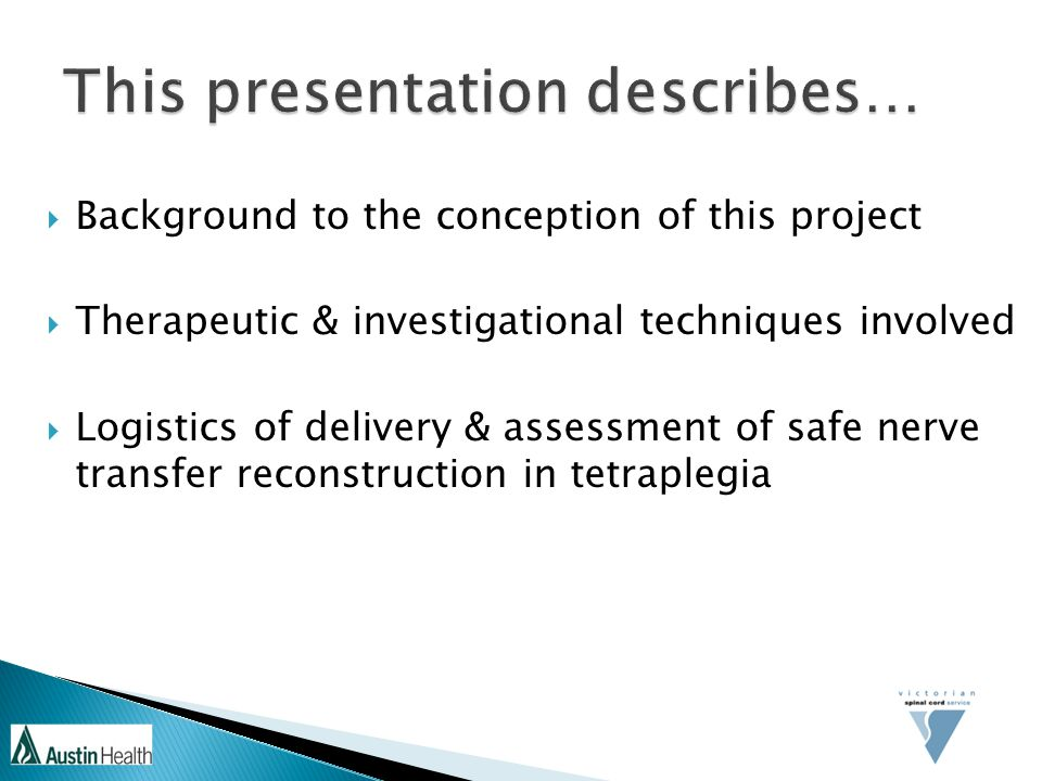 This presentation describes…