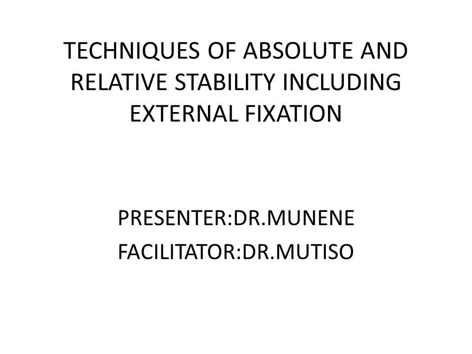 PRESENTER:DR.MUNENE FACILITATOR:DR.MUTISO