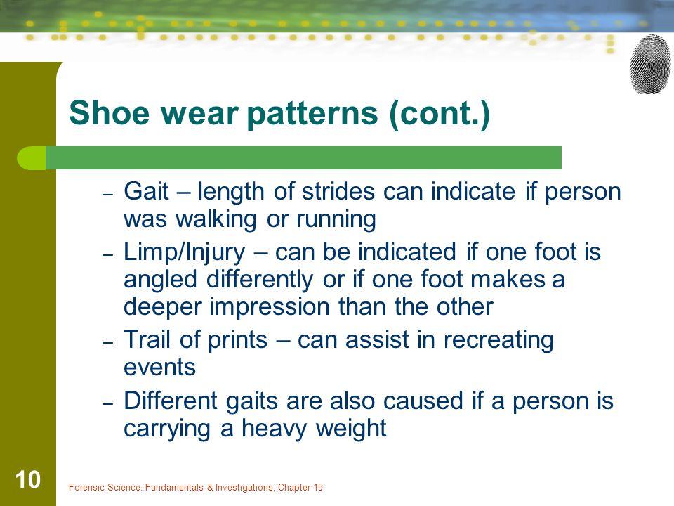 Shoe wear patterns (cont.)