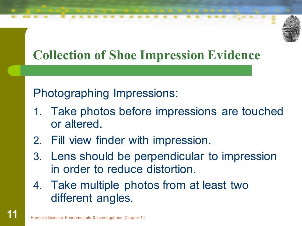 Collection of Shoe Impression Evidence