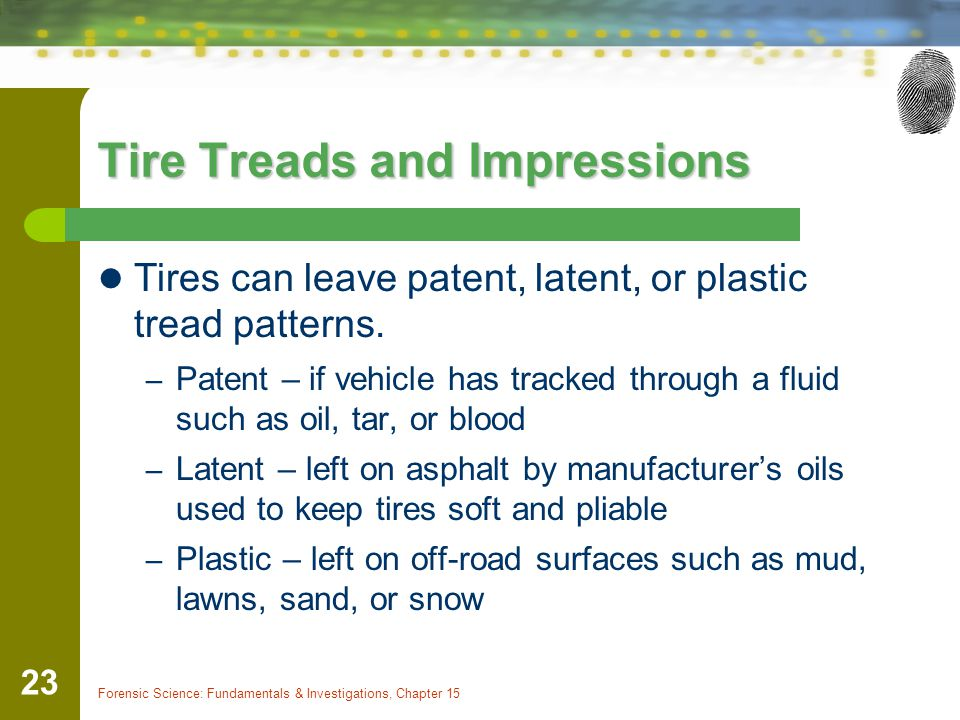 Tire Treads and Impressions