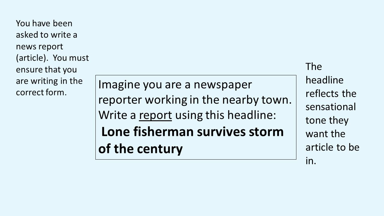 Lone fisherman survives storm of the century
