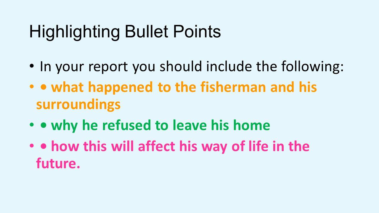 Highlighting Bullet Points