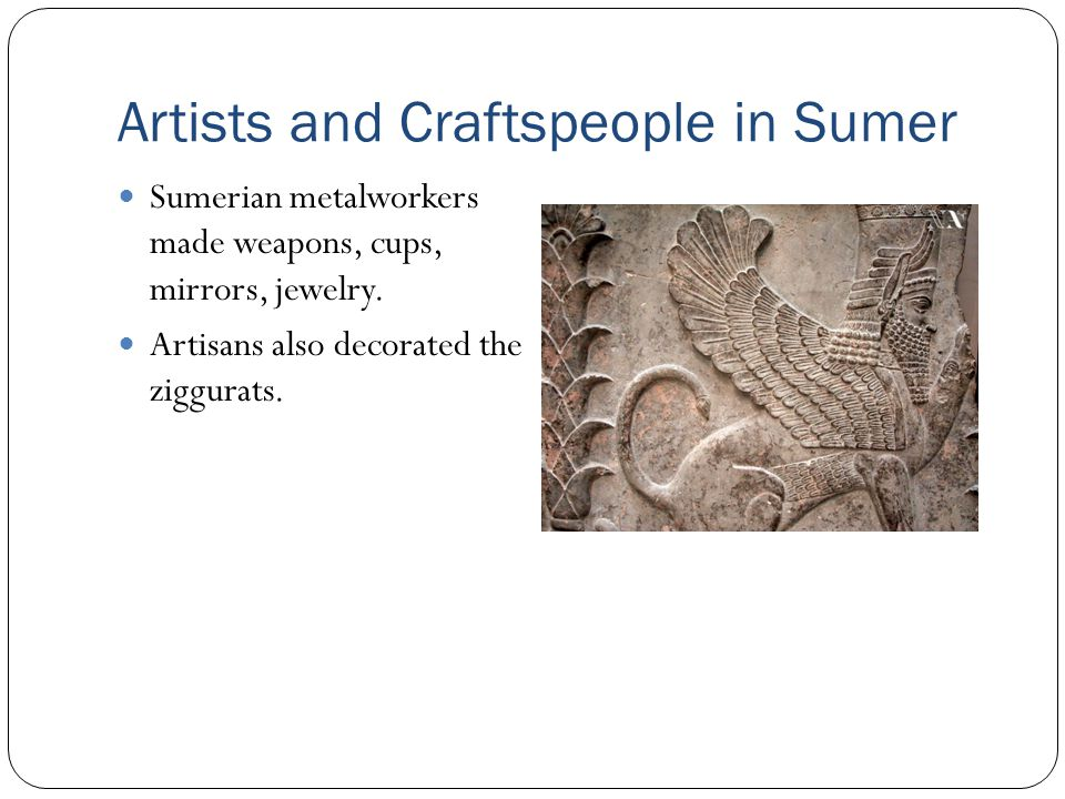 Artists and Craftspeople in Sumer