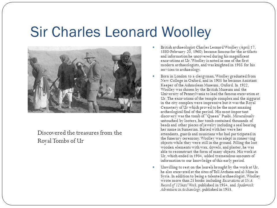 Sir Charles Leonard Woolley
