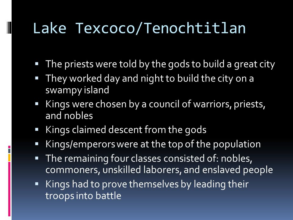 Lake Texcoco/Tenochtitlan