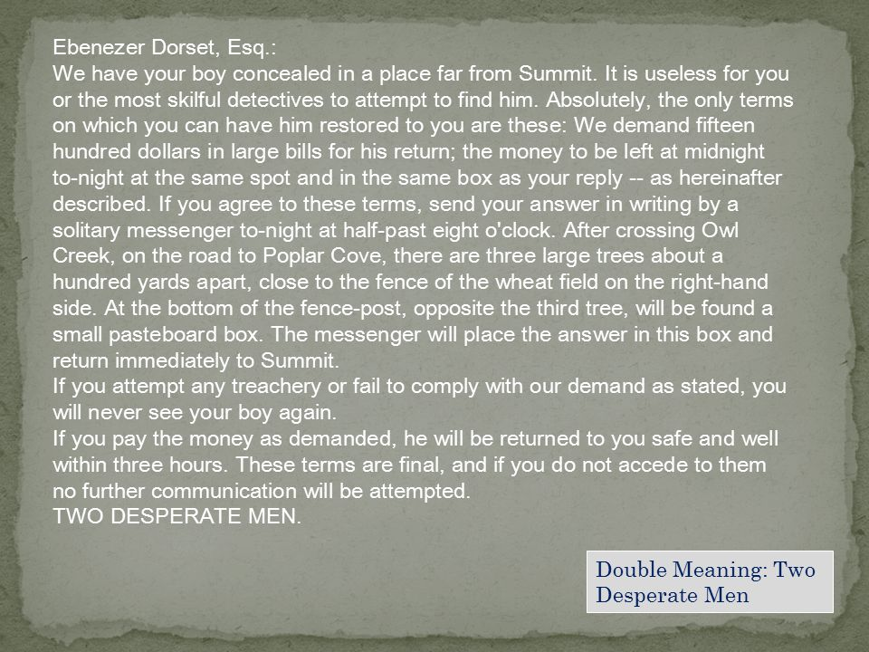 Ebenezer Dorset, Esq.: