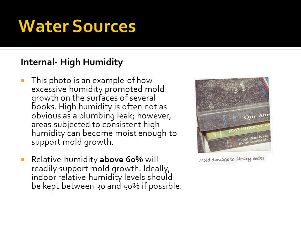Water Sources Internal- High Humidity