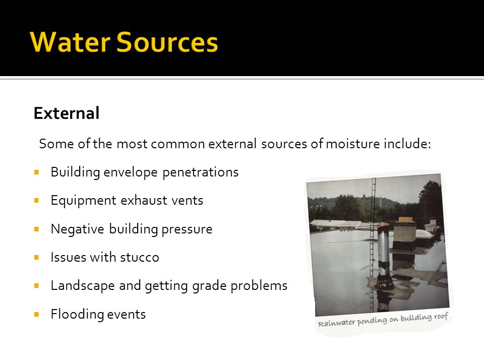 Water Sources External