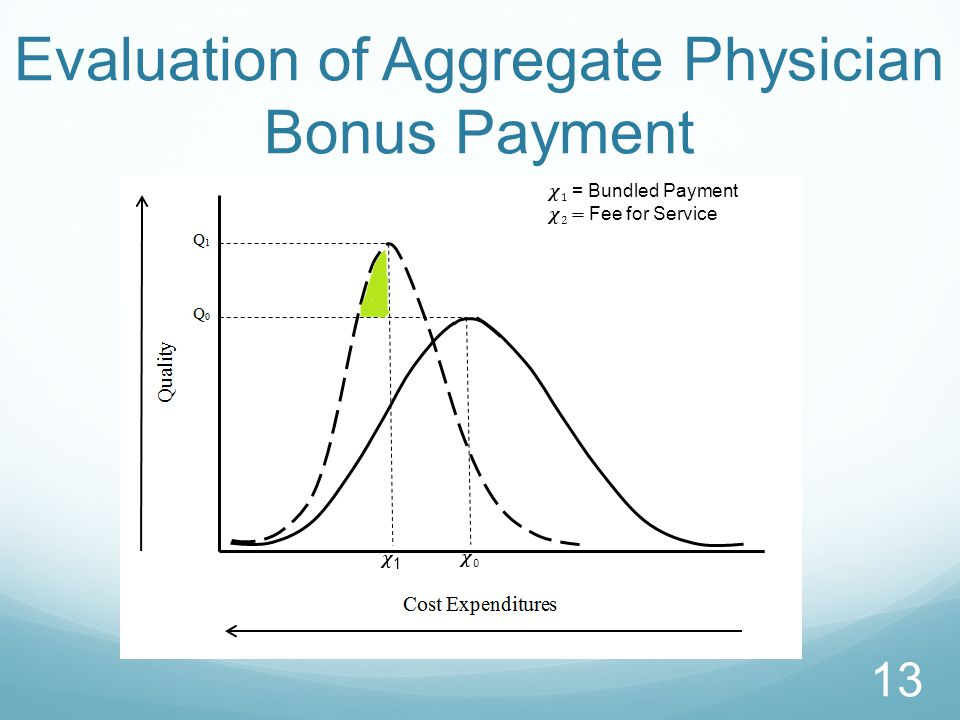 Evaluation of Aggregate Physician Bonus Payment