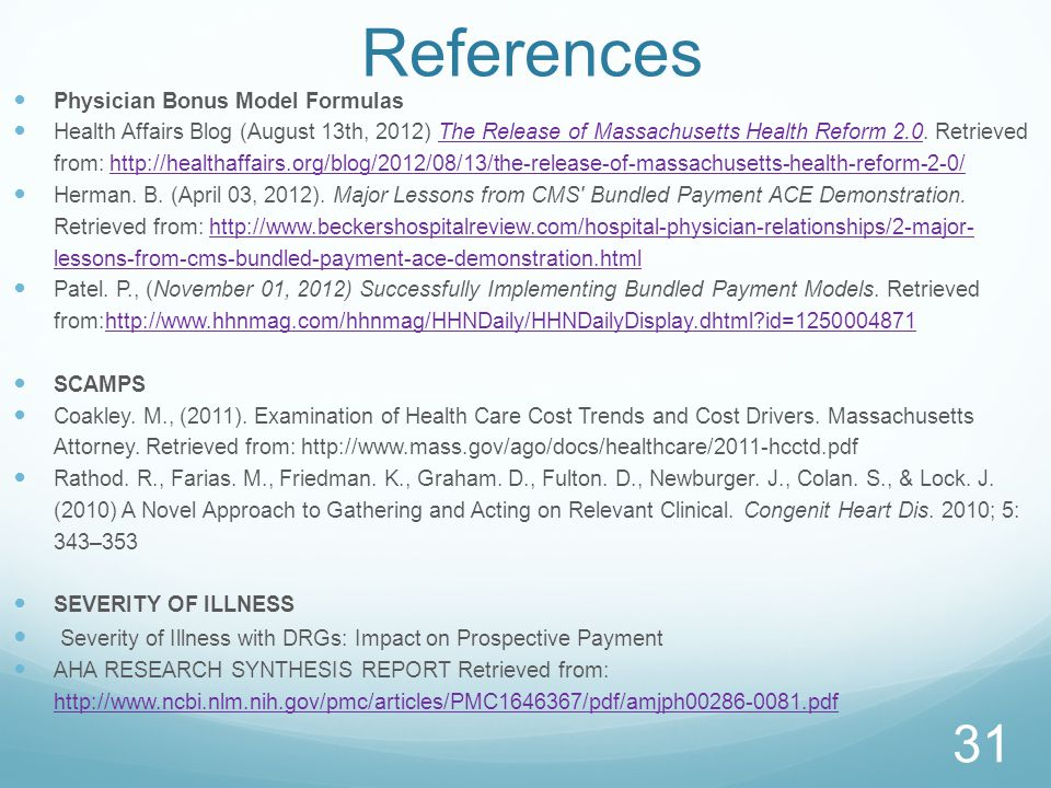 References Physician Bonus Model Formulas.