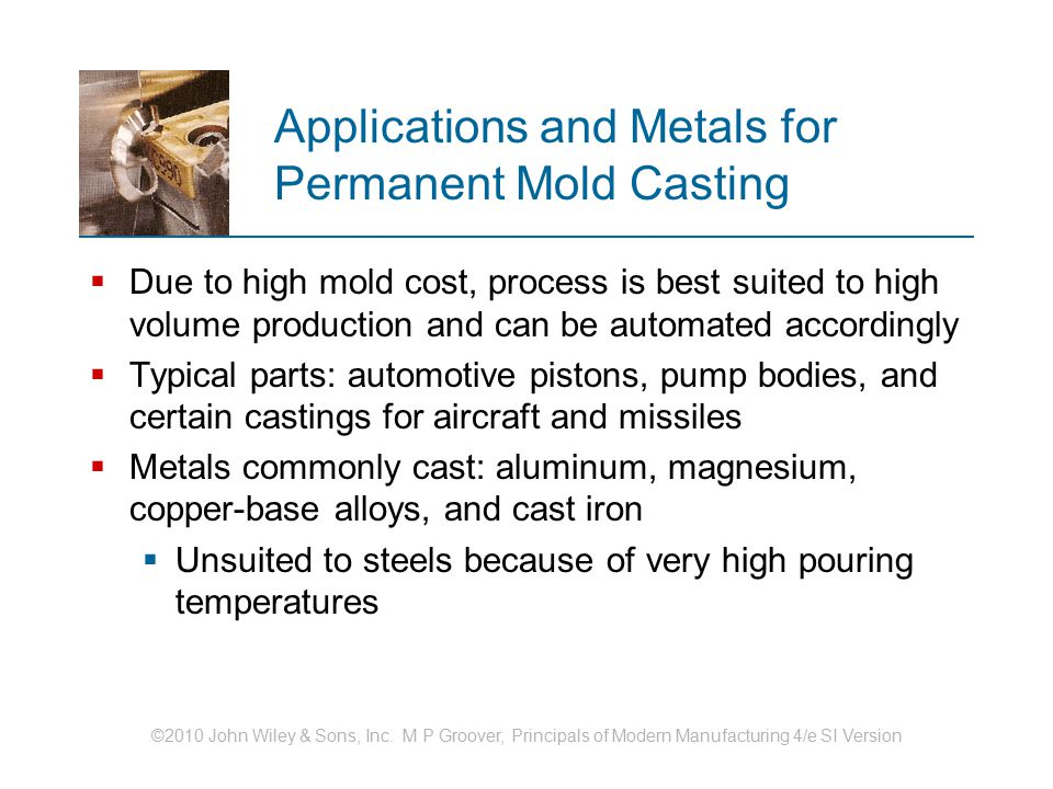 Applications and Metals for Permanent Mold Casting