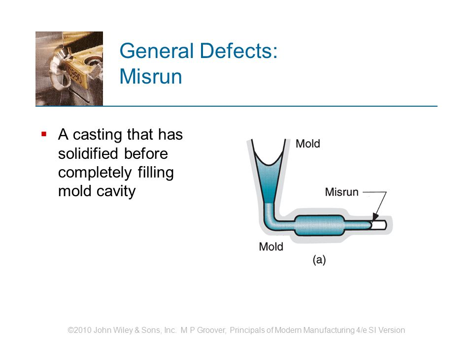 General Defects: Misrun