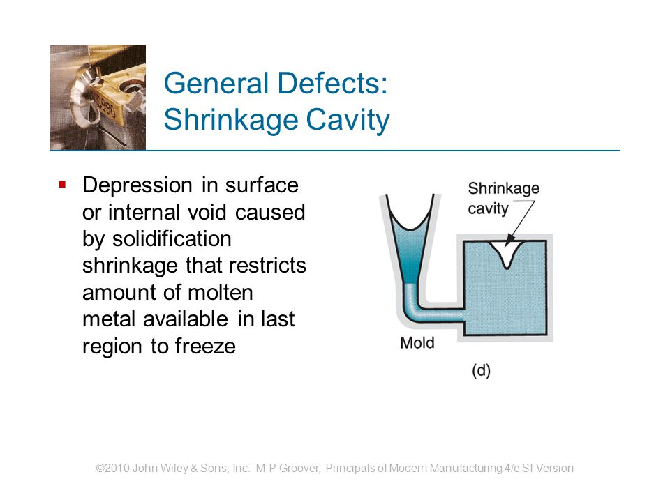 General Defects: Shrinkage Cavity