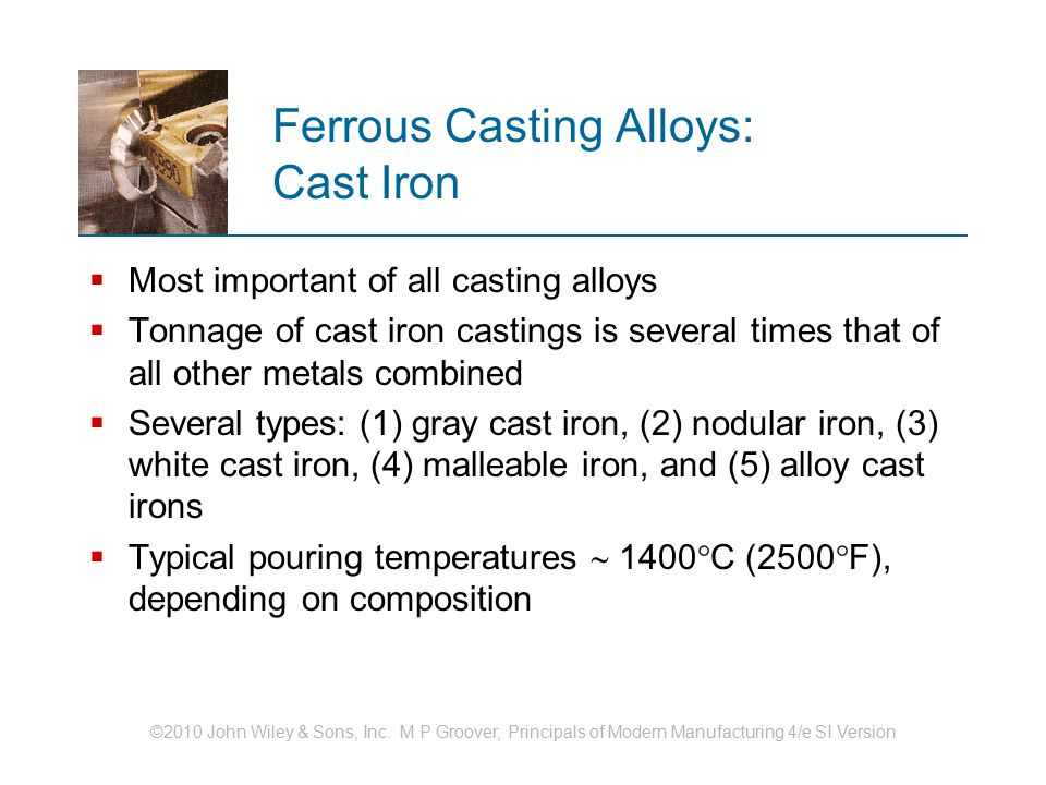 Ferrous Casting Alloys: Cast Iron
