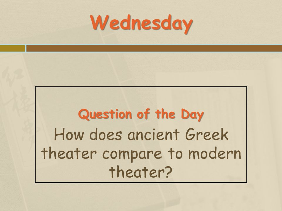 How does ancient Greek theater compare to modern theater