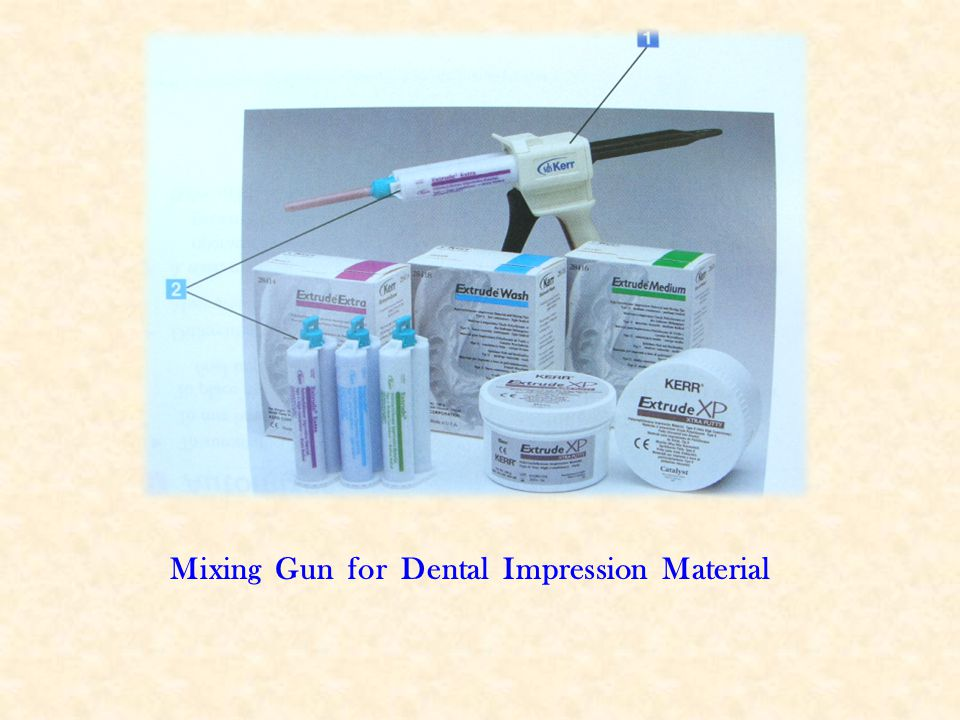 Mixing Gun for Dental Impression Material