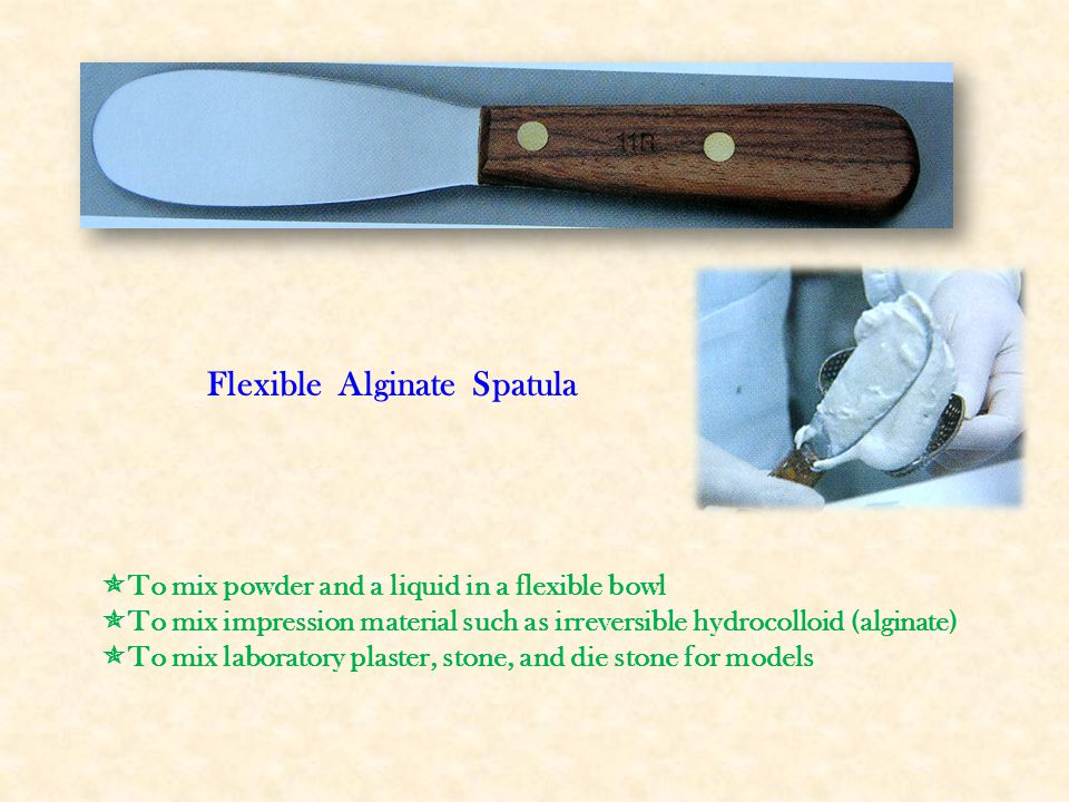 Flexible Alginate Spatula