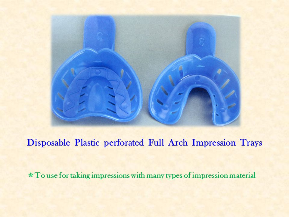 Disposable Plastic perforated Full Arch Impression Trays