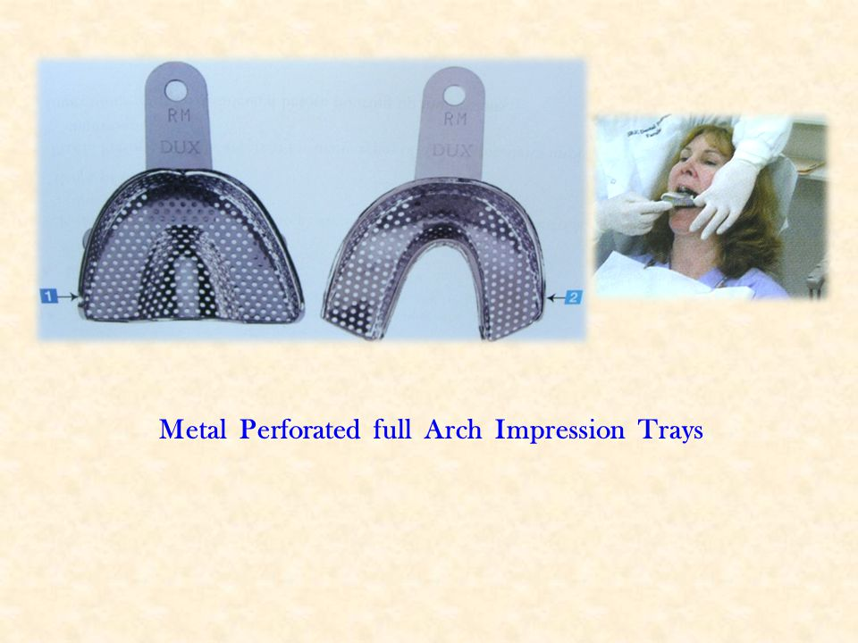 Metal Perforated full Arch Impression Trays