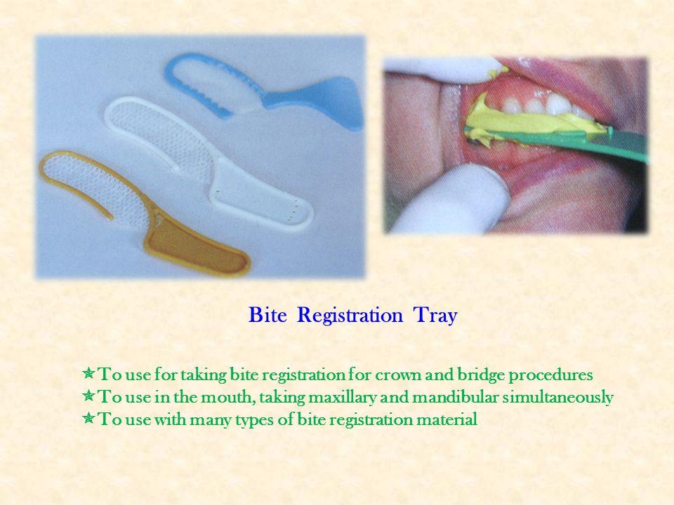 Bite Registration Tray