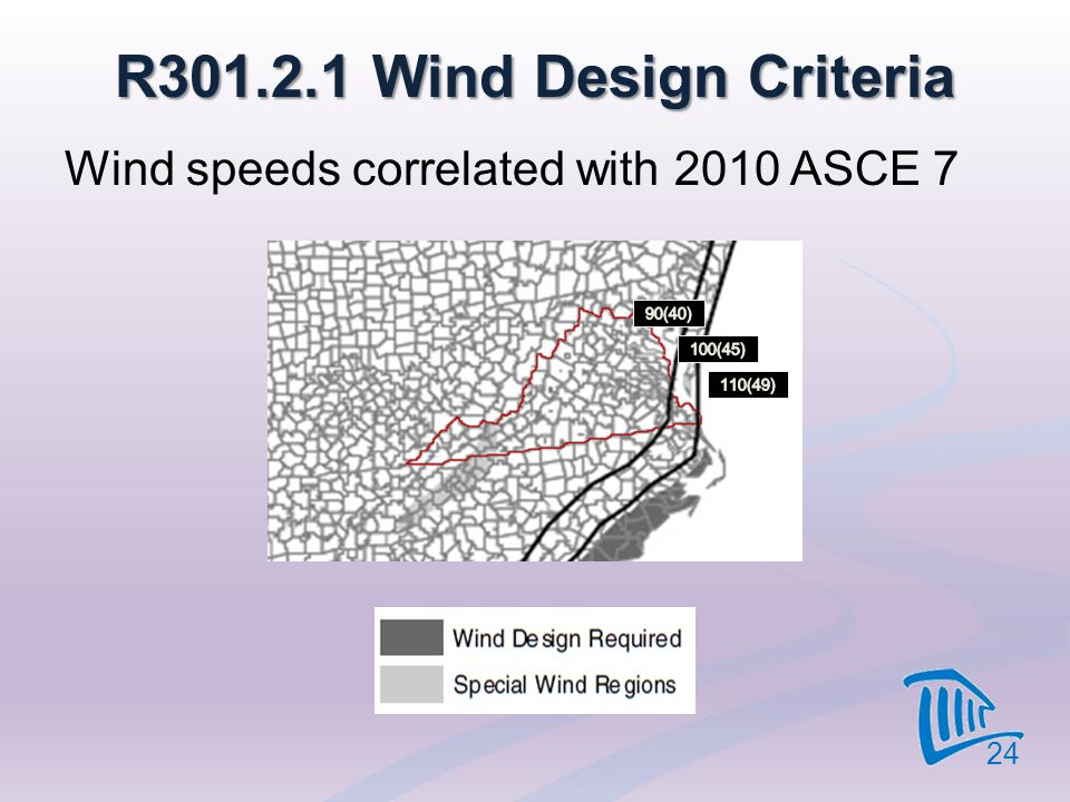 R301.2.1 Wind Design Criteria Wind speeds correlated with 2010 ASCE 7