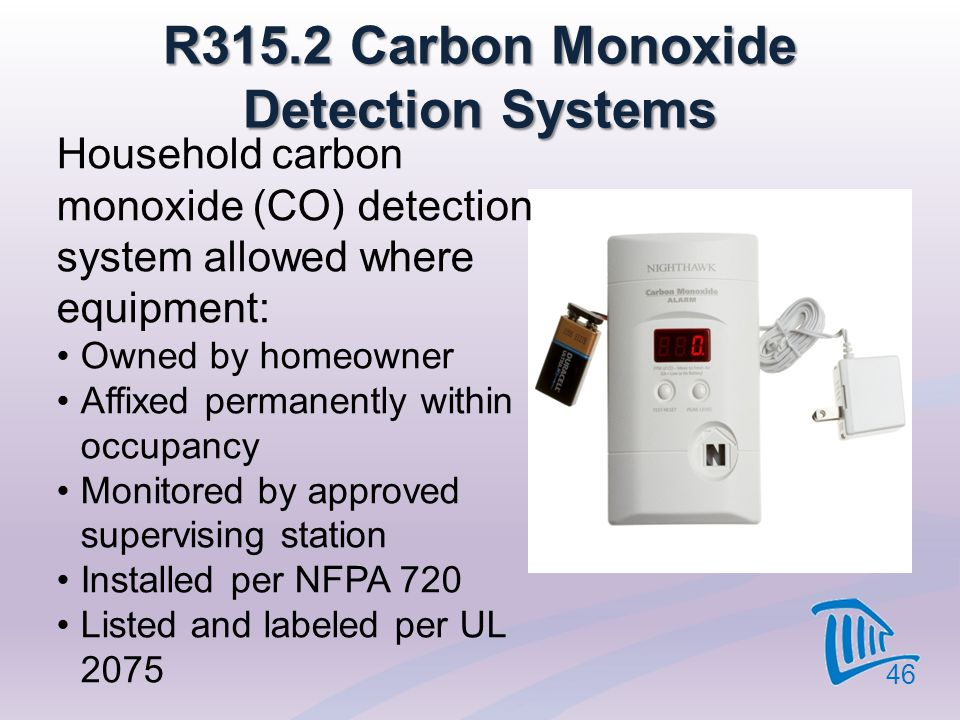 R315.2 Carbon Monoxide Detection Systems