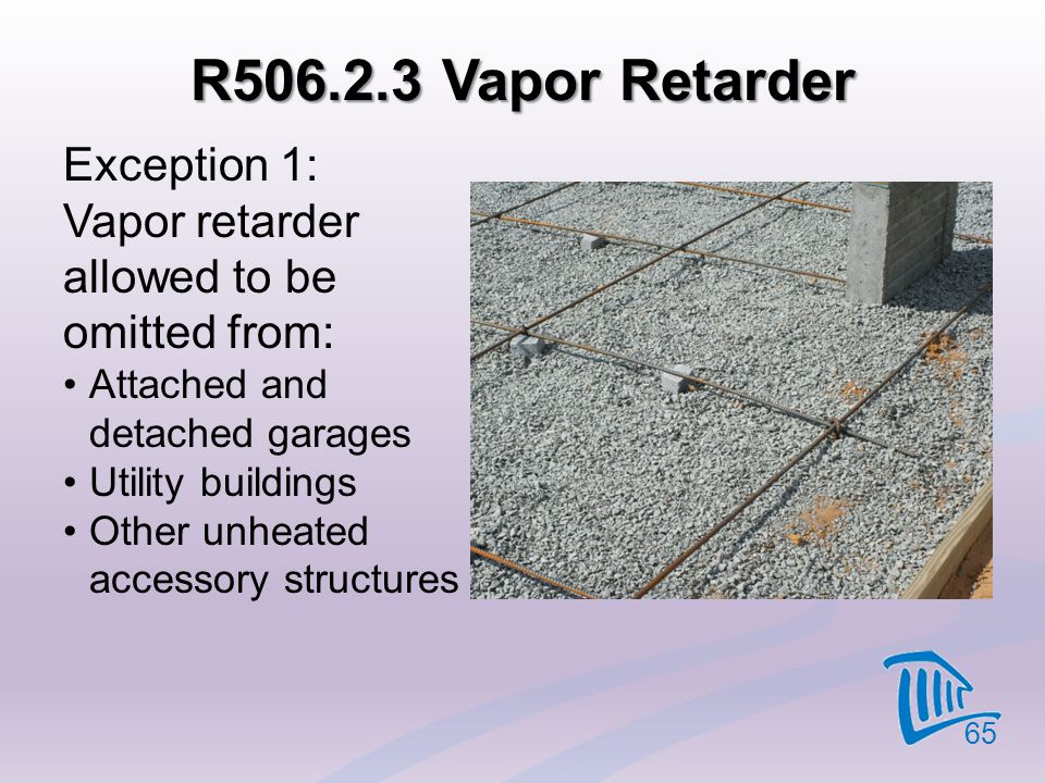 R506.2.3 Vapor Retarder Exception 1: