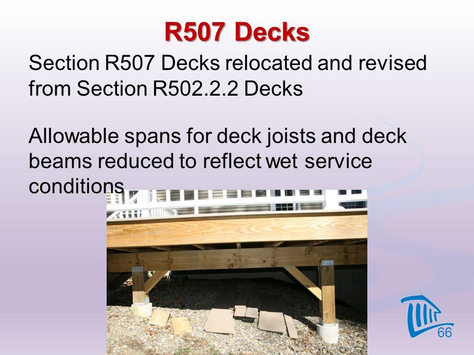 R507 Decks