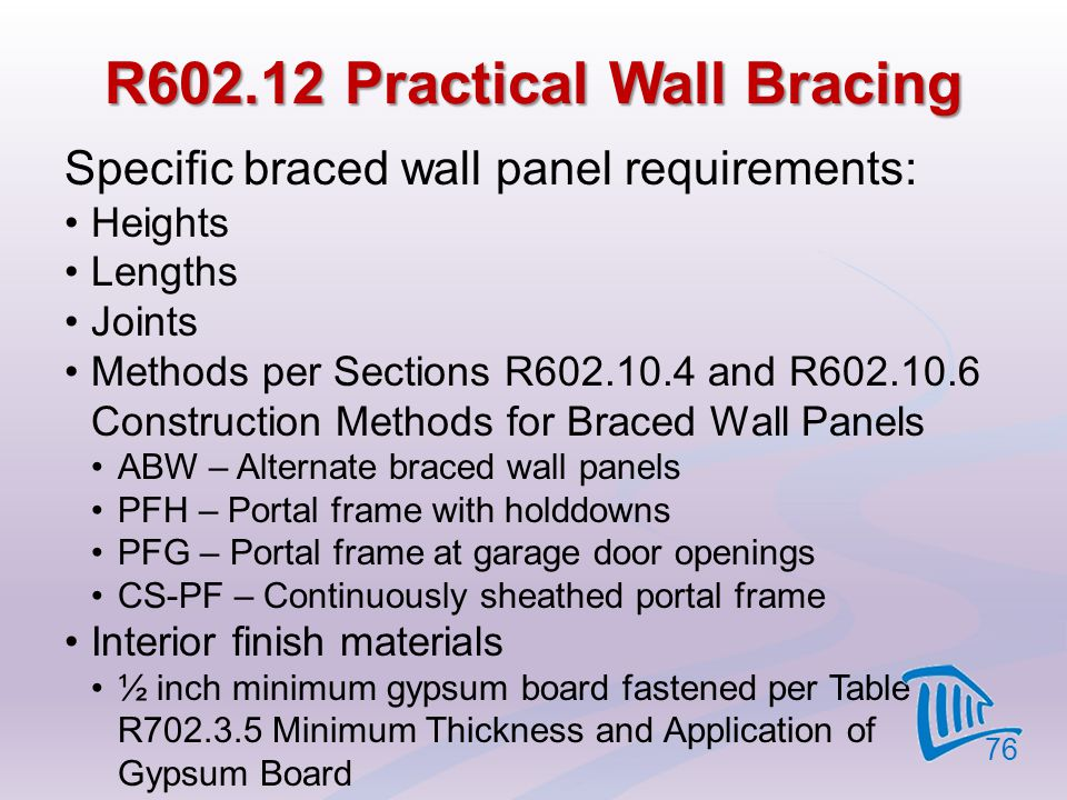 R602.12 Practical Wall Bracing