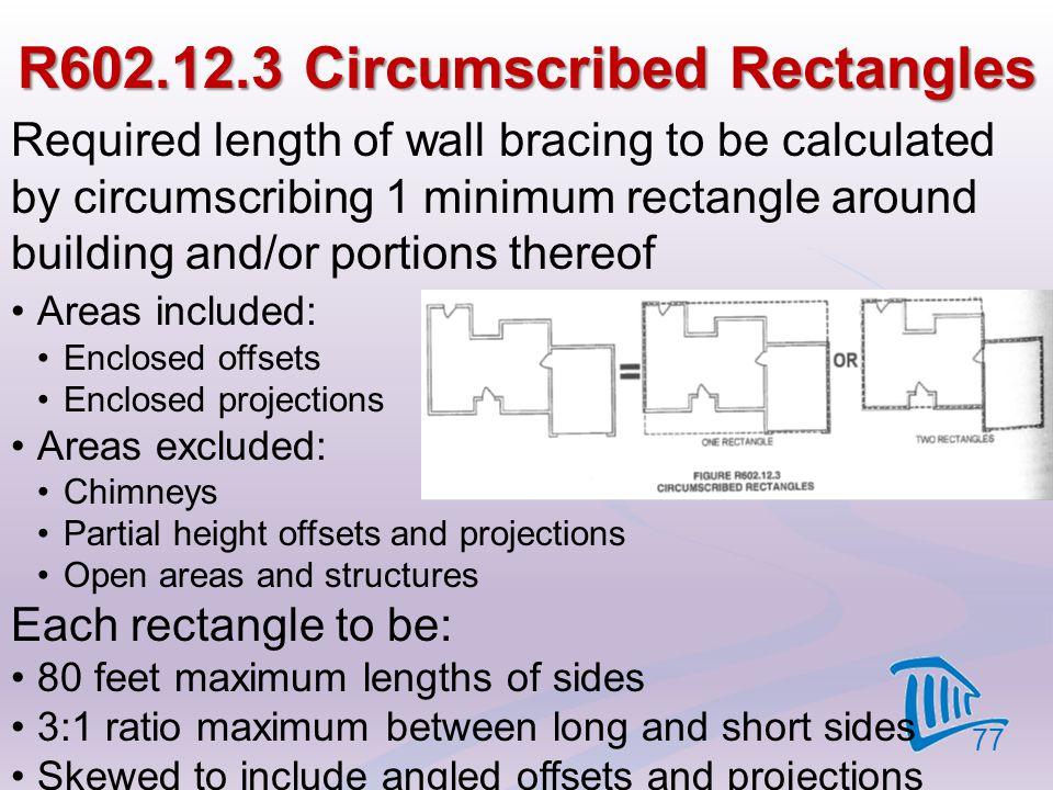R602.12.3 Circumscribed Rectangles