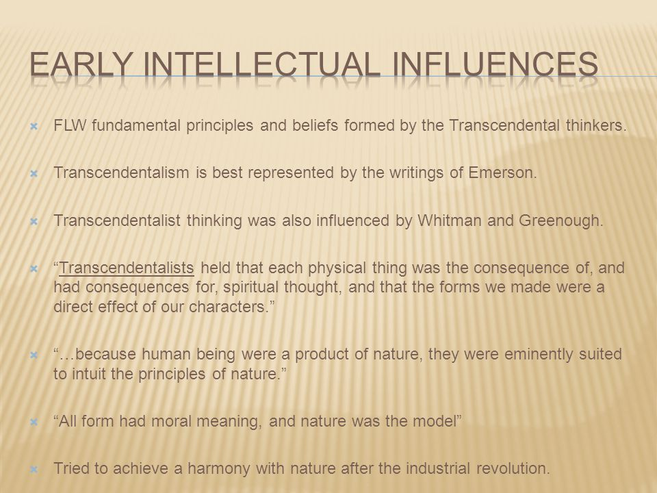 Early intellectual Influences