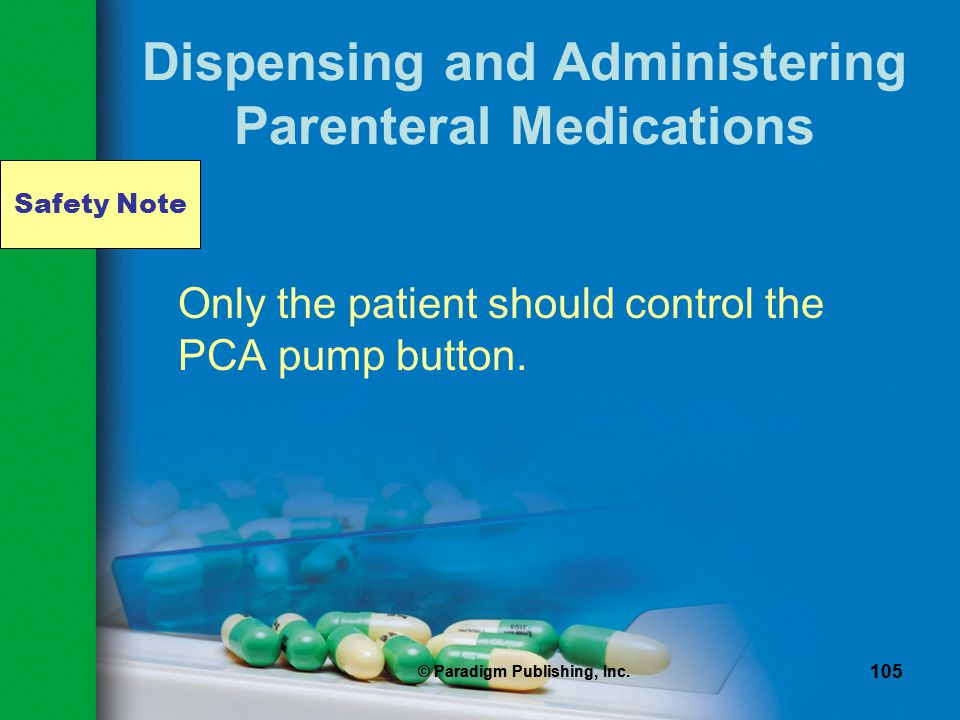 Dispensing and Administering Parenteral Medications