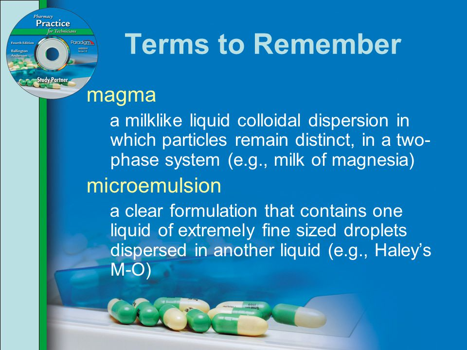 Terms to Remember magma microemulsion