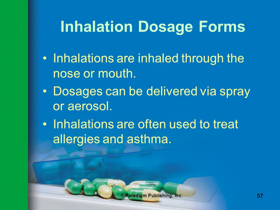 Inhalation Dosage Forms