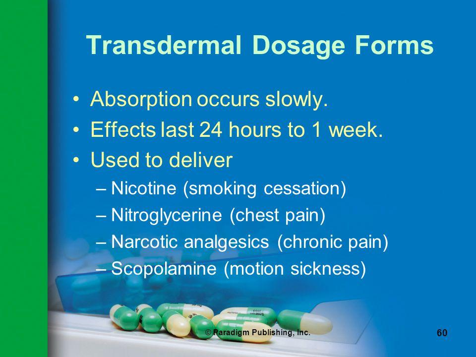 Transdermal Dosage Forms