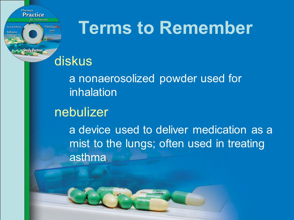 Terms to Remember diskus nebulizer