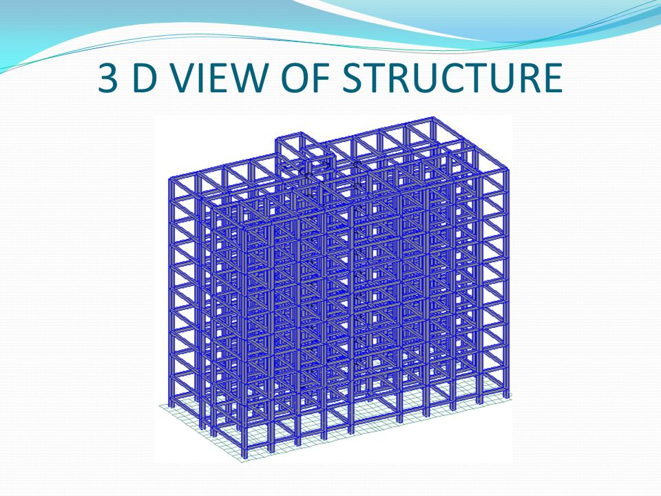 3 D VIEW OF STRUCTURE