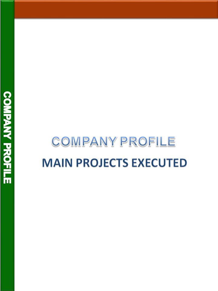 MAIN PROJECTS EXECUTED