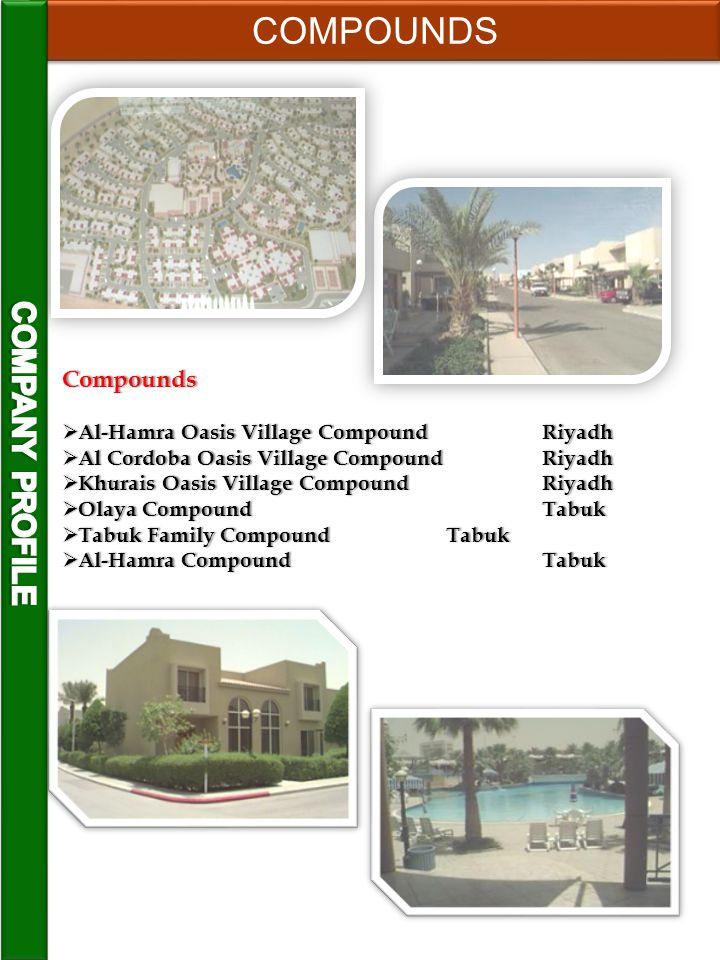 COMPOUNDS COMPANY PROFILE Compounds